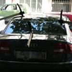 Записка на лобовом стекле автомобиля!