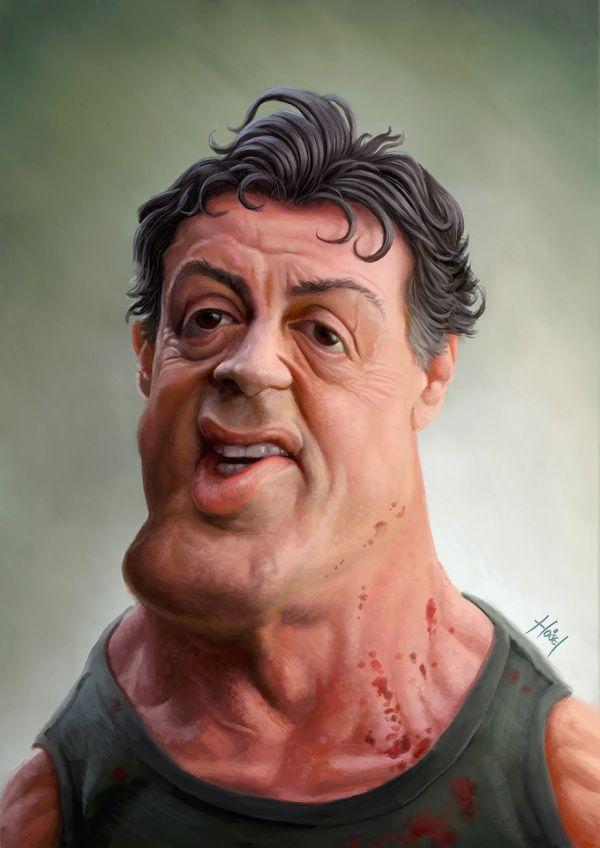 Caricatured