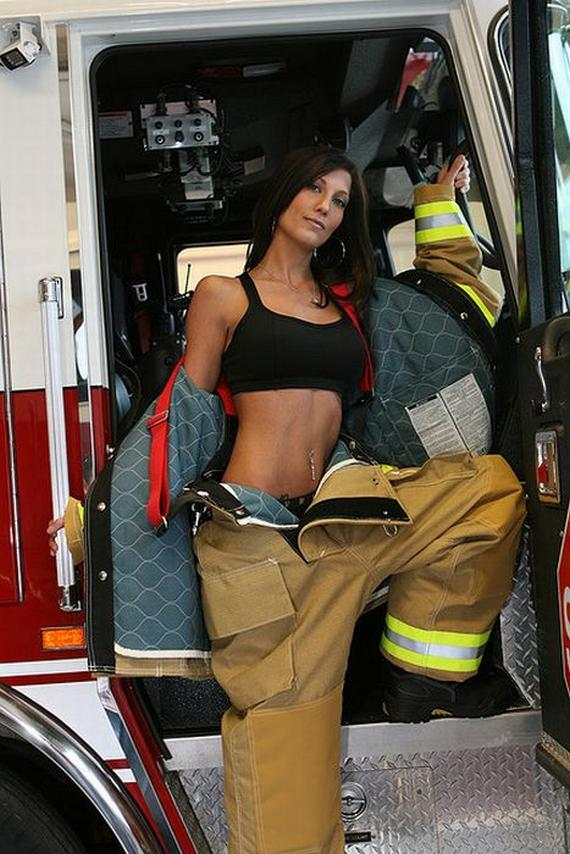 Hot female firefighters naked — photo 4